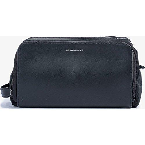 Hook & Albert Leather Travel Toiletry Kit (Black) by HOOK & ALBERT