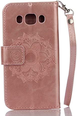 Purple SONWO PU Leather Flip Wallet Phone Case Mandala Embossing Bling 3D Crystal Diamond Cover with Card Slots and Kickstand for Samsung Galaxy J6 2018 Galaxy J6 2018 Case