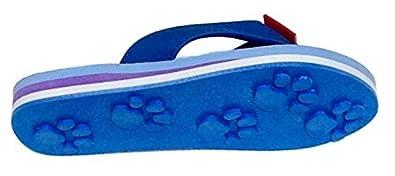 5a729a6e9d6 Tiger Blue Small Kids Paw Print Flip Flops Fun for Beach