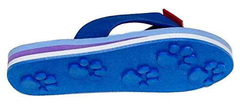 Tiger Blue Small Kids Paw Print Flip Flops Fun for Beach, Trails and Everywhere. ()