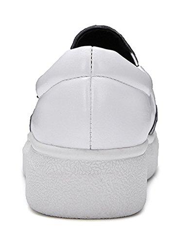 Basse Femme Compensé Baskets Blanc Classique Aisun Talon Multicolore xIqFx1
