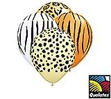 Qualatex Safari Print Latex Balloons, 11-Inch 25 Per Pack Assortment, Health Care Stuffs