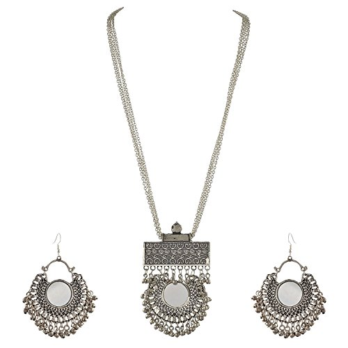 3155c1925b314e Cardinal Oxidised Afghani Tribal Stylish Necklace Set With Earring ...