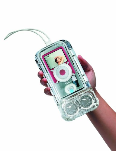 eGo Waterproof Sound Case with Speaker for iPod nano 3G (Clear)