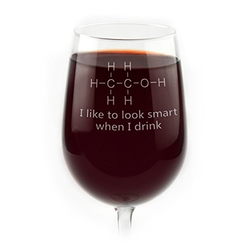 Engraved Chemistry of Alcohol Funny Wine Glass