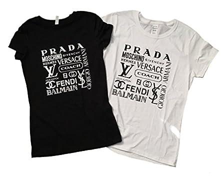 ef77fe908 Amazon.com: Designer Name Brands Inspired T-Shirt - Cute Women's Tee ...