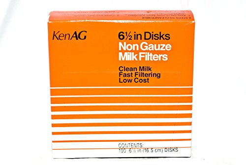 6-1/2'' Milk Filter Disks Non-gauze 100pk, D110 (15) by Ken-Ag Milk Filters