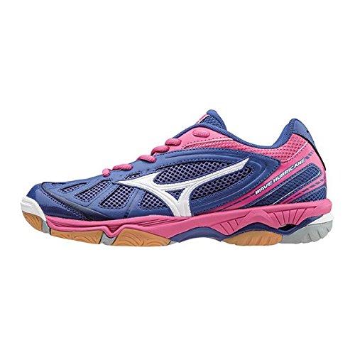Blue Hurricane Shoes Wave Court Women's Indoor Mizuno YqwaT5