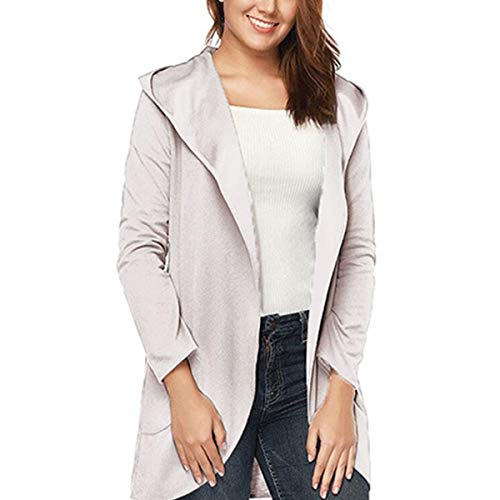 ZFFde Invierno Rebeca de lana color caramelo mujeres con capa de mangas largas de sombrero (Color : Apricot, tamaño : XL)