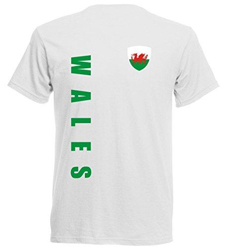 Wales EM 2016 T-Shirt Trikot - Übergröße 3XL - 5XL - weiss 10