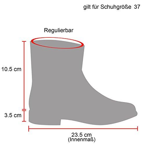 Stiefelparadies Damen Herren Unisex Worker Boots mit Blockabsatz Profilsohle Flandell Denim Hellbraun Avion