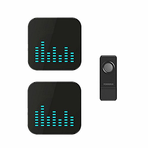 GetTen Home Waterproof Wireless Doorbell System - 1000 feet Range with 52 Chimes for Home  Office with LED Light 1T2