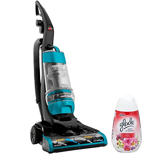Bissell Multi Cyclonic Spontaneous Cord Rewind Turbo Brush Roll Corded Lightweight Bagless Upright Vacuum Cleaner with Air Freshener