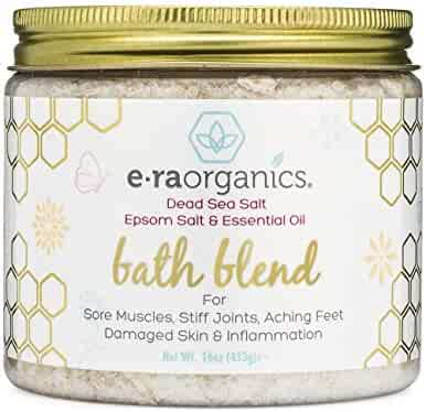 Relaxing Bath Salts & Essential Oils – Extra Soothing Spa Quality Epsom Salt, Dead Sea Salt & Essential Oil Blend For Sore Muscles, Swollen Feet, Sitz Bath for Hemorrhoids & More Era-Organics