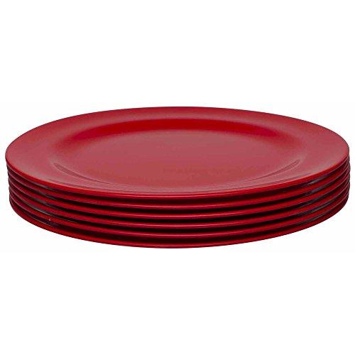 Zak Designs 0078-1610-ISET Ella Salad Plates, Set, Red SP