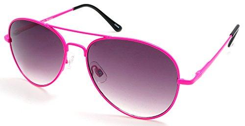 Unisex Military Pilot Neon Classic Sunglasses - Mambo Madness Neon Shades]()