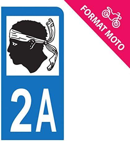 Pegatina para matrícula de moto, modelo 2A - Corse del Sur: Amazon.es: Coche y moto