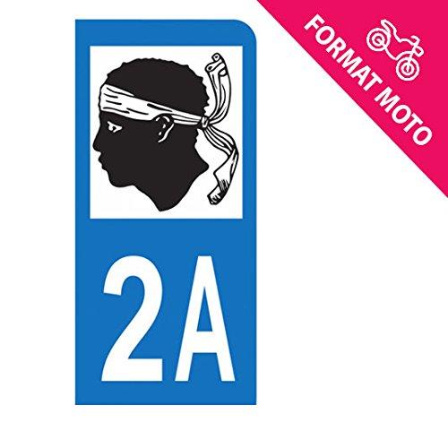 Autocollant Moto immatriculation 2A - Corse du Sud Autocollant-immatriculation