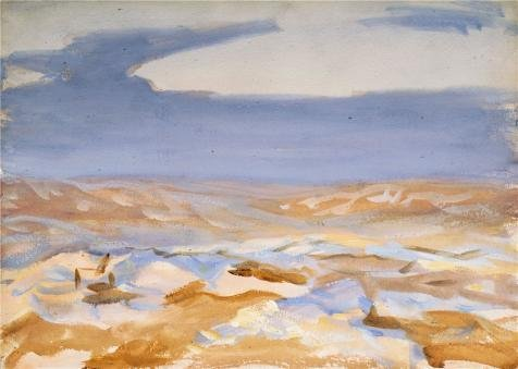 Oil Painting 'John Singer Sargent,The Desert From Jerusalem,1905' 8 x 11 inch / 20 x 29 cm , on High Definition HD canvas prints is for Gifts And Dining Room, Home Office And Study Room decor, huge