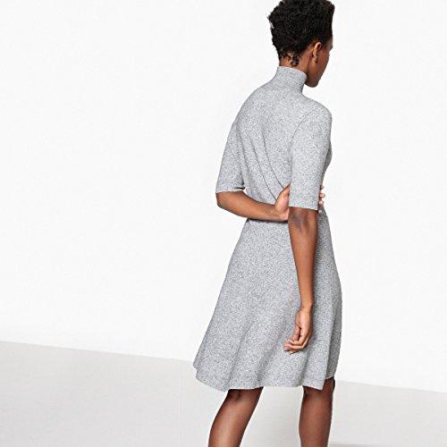 Kleid Frau Redoute La Meliert Ausgestelltes Grau Rollkragen Collections wPAnCIq