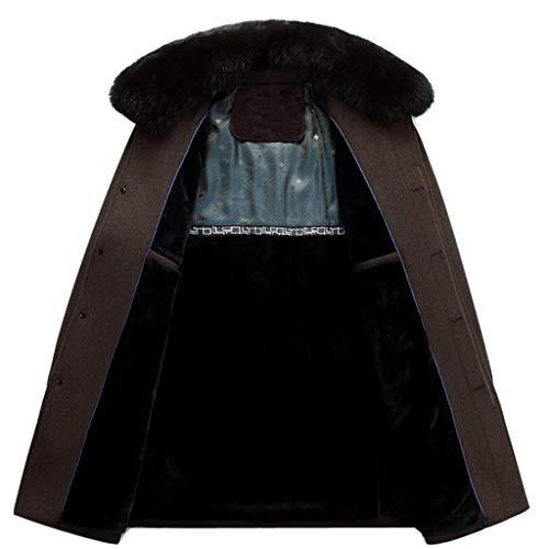 Dimensioni Coat Caldo M Cappotto colore Di Imbottito Papà Zjexjj Brown Uomo Trench Mezza Età Da Uggp1q