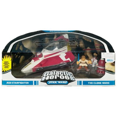 Star Wars Galactic Heroes  The Clone Wars Jedi Starfighter by Hasbro