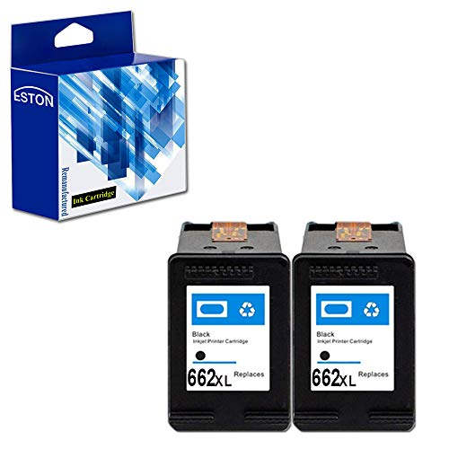 ESTON 662XL Black Remanufactured Replacement for HP 662XL 662 XL Ink Cartridges Used for HP Deskjet Ink Advantage 1015 1515 2515 2545 2645 3515 3545 4645 (2-Black) (Hp 662)