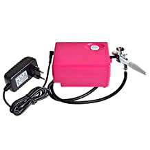 StarHealth Multi-purpose Airbrush Set with Compressor Makeup System Kit (Pink)