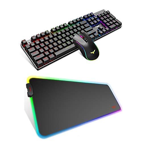 havit Mechanical Gaming Keyboard, Gaming Mouse and Gaming Mouse pad Bundle Set
