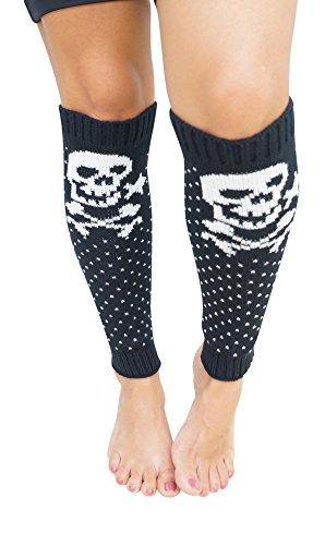 Caribbean Touch Skull Knit Leg (Skull Leg Warmers)