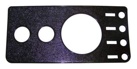 Overlay Crown - CJ Dash Overlay Panel, Black (w/o Radio Cutout) - Crown# 5457117NR