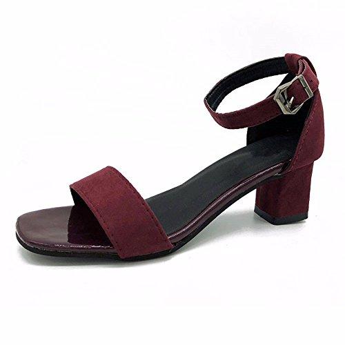 alto caviglia con alto temperamento tacco YMFIE b alla scarpe tacco moda sandali Donna cinghia estate toe fqtfFHO
