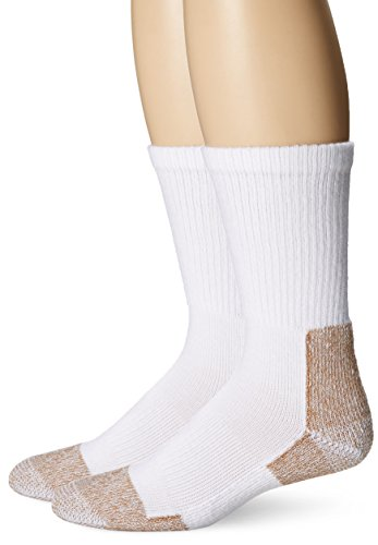 Price comparison product image Fox River Steel-Toe Crew Socks (Pack of 2), White, Large