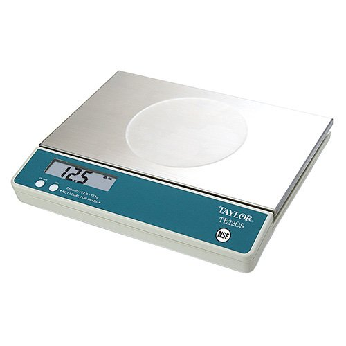 Taylor TE22OS Oversized Digital Portion Control Scale - 22 lbs. x 0.125 oz. Capacity, 11-1/2