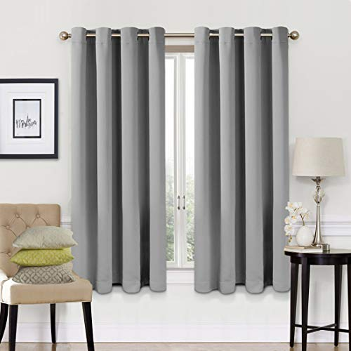 Blackout Curtains 2 Panels Set Thermal Insulated Window Treatment Solid Eyelet...