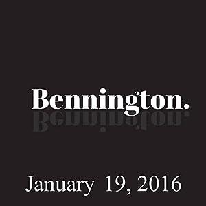 Bennington, January 19, 2016 Radio/TV Program