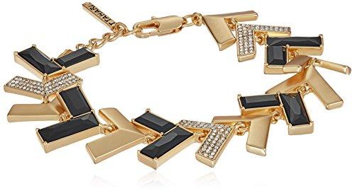 T Tahari Chevron Chic Gold Jet Cry Link Bracelet Jet Gold Bracelets