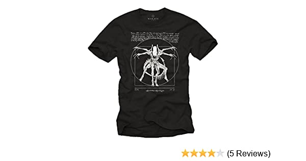Amazon.com: Cool Stuff for Teenagers - Da Vinci Alien T-Shirt - Gamer Gifts for Men: Clothing