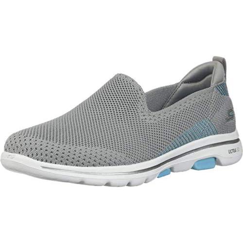 chollos oferta descuentos barato Skechers Go Walk 5 Prized Zapatillas para Mujer Gris Grey Textile Trim Gy Bl 35 5 EU