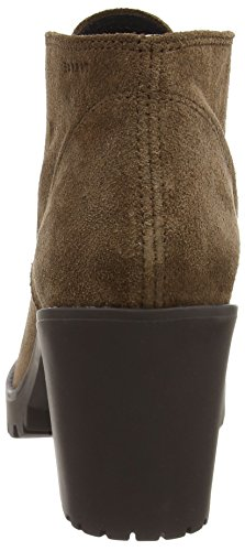 ESPRIT Joma Lu Bootie - botas de caño bajo de cuero mujer marrón - Braun (202 dark brown 3)