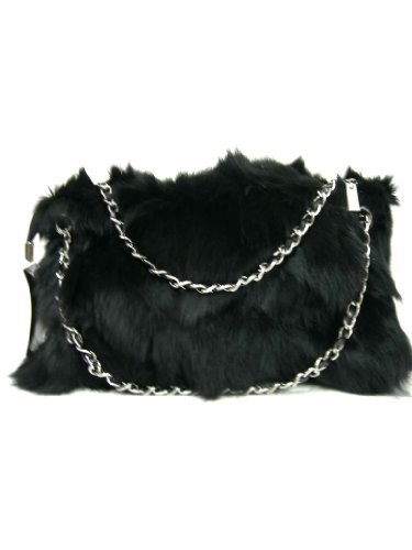 Fox Fur Handbag and hand warmer with Short Chains by Hima