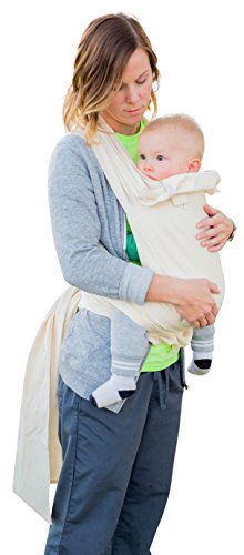 Mei Tai Hip Carrier (Suse's Kinder One and Only Mei Tai Baby Carrier, Newborn to Toddler, Undyed Natural Cotton)