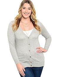 2LUV Plus Women's Plus Size Classic Layering Cardigan