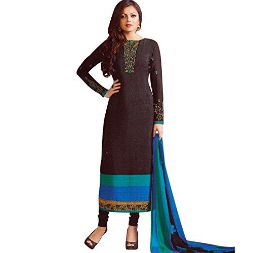 Designer-Italian-Crepe-Embroidery-Readymade-Salwar-Kameez-Indian-Dress
