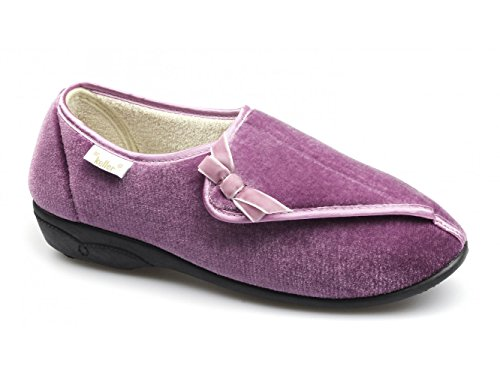 DR KELLER WOMENS DIABETIC ORTHOPAEDIC FUR LINED COMFORT SLIPPERS SHOES WIDE FIT LADIES SIZE UK 3-8 Rose Pink