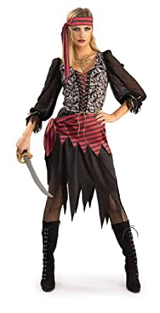 Rubie's Costume Bounty Of The Seas Pirate Lass, Black, One Size Costume
