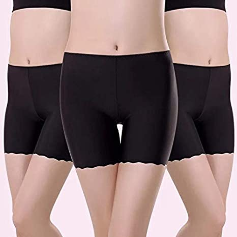 HEZHYDNY Los Pantalones Cortos para Debajo de Las Faldas previenen ...