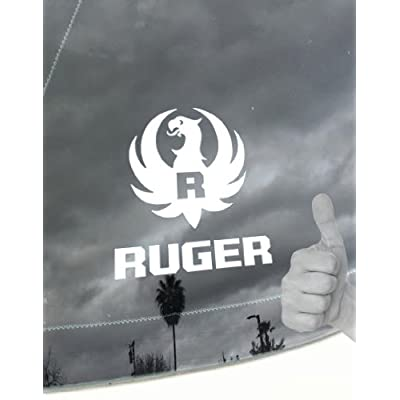 FIREARMS COMPANY LOGO_RUGER_2ND AMENDMENT_RIGHT TO BEAR ARMS_TEAM USA_D&A Special Vinyl Decal Sticker(COLOR WHITE): Everything Else