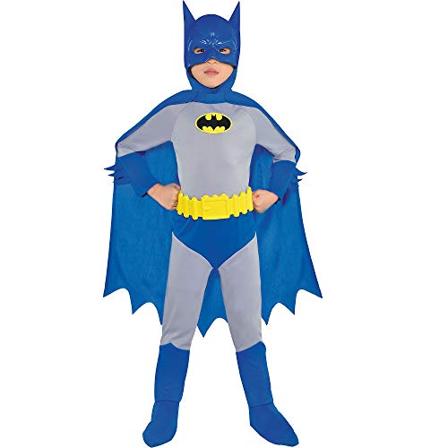 Costumes USA The Brave and the Bold Classic Batman Costume for Boys, Size Small, Includes a Jumpsuit, a Mask, and More]()