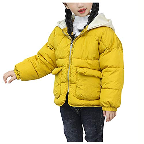 Tronet Baby Girl Coat,Fashion Kids Coat Boys Girls Thick Coat Padded Winter Jacket Clothes Yellow